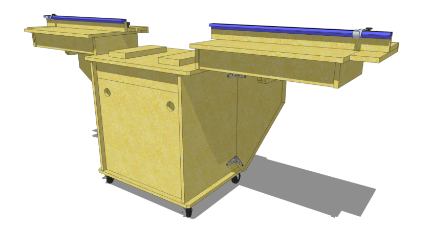 Miter Saw Stand SketchUp Model Available in the 3D Warehouse