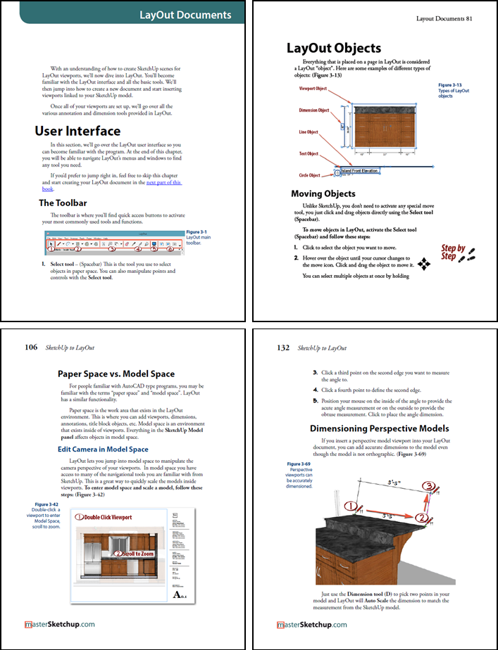 Some example pages