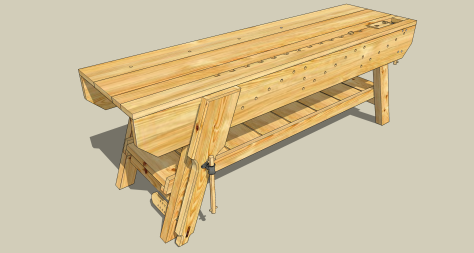 wood tool bench plans