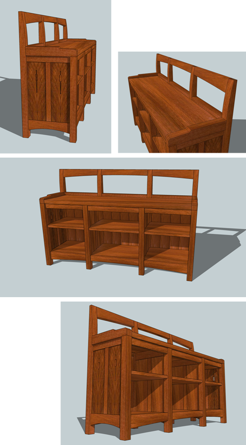 arched bookcase plans