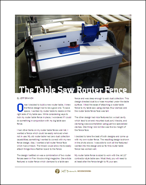 woodworking projects router table