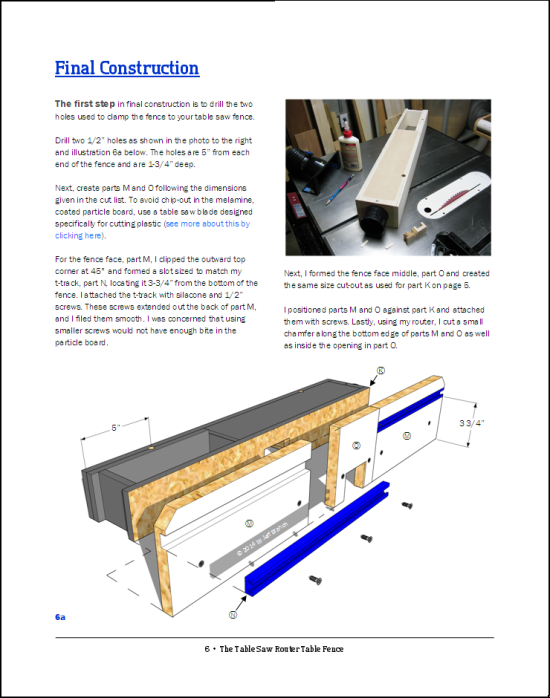 The Table Saw Router Fence Page 6 | Jeff Branch Woodworking