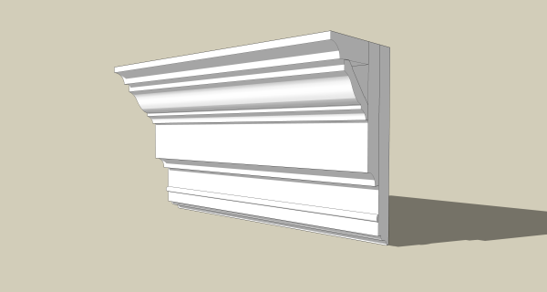 Designing crown molding - this is what I envision.