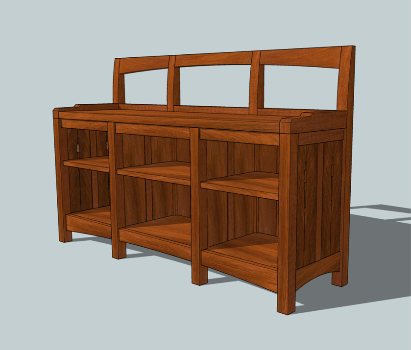 The Window Seat Bookcase design 2.