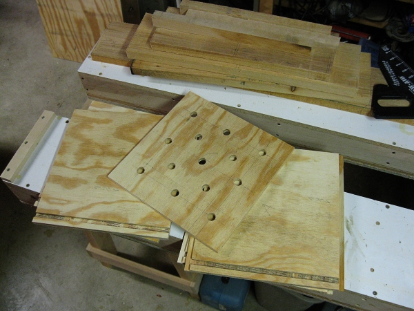 Plywood is used to create the basic shape.