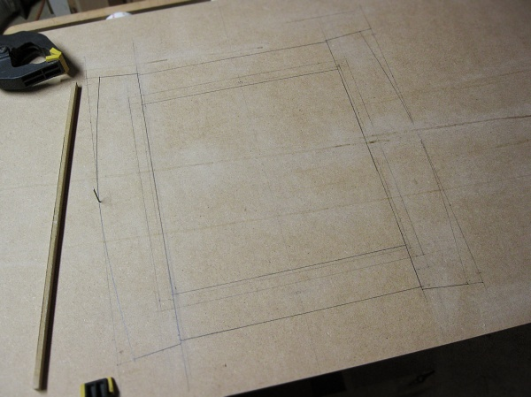 Drawing the top frame full-size.