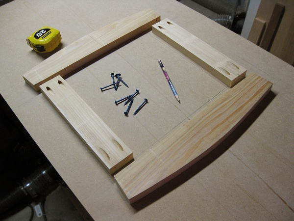 Creating the top frame.