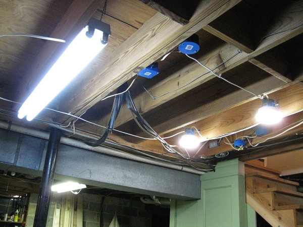The round fixtures are directly above my workbench. I repositioned the fluorescent light.