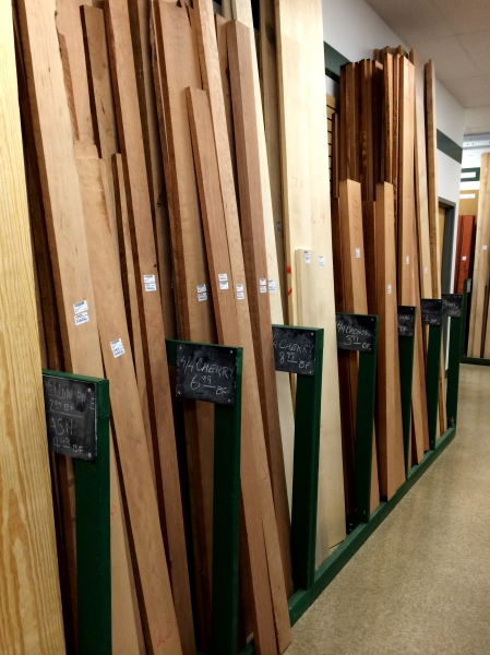 Some very nice cherry boards at the Pelham, Alabama Woodcraft store.