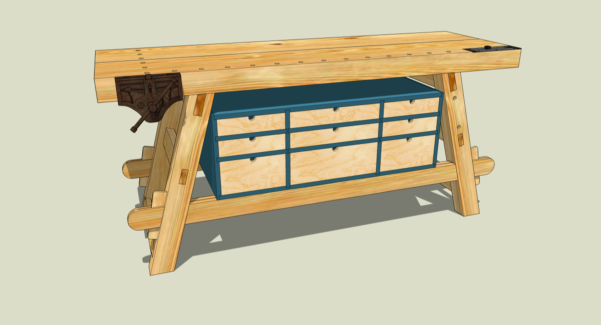 New Workbench: Option Two | Jeff Branch Woodworking