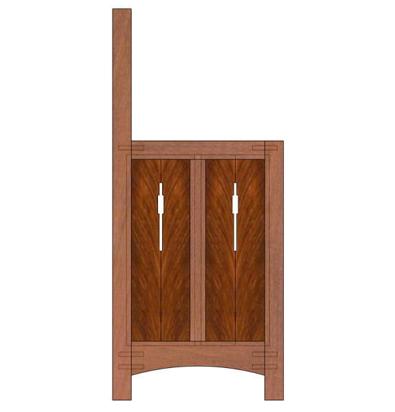 Proposed joinery for the sides.