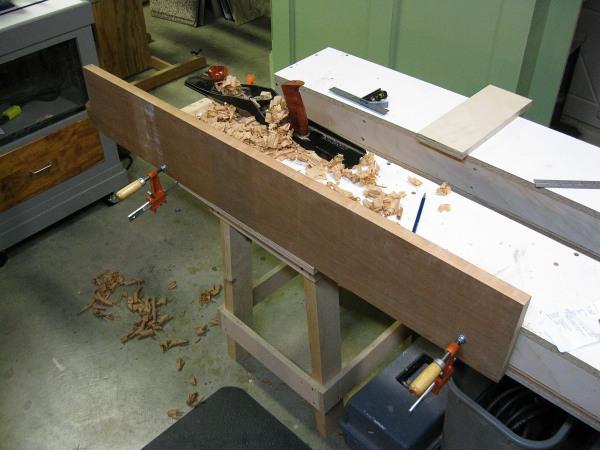 Jointing on the Josh Finn workbench.