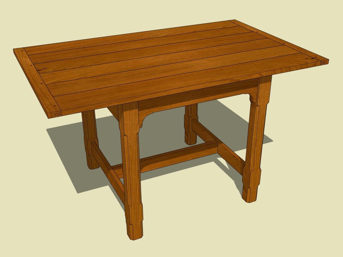 Free Woodworking Plan Small Dining Table Jeff Branch