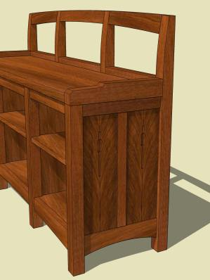 Window Seat Bookcase 2
