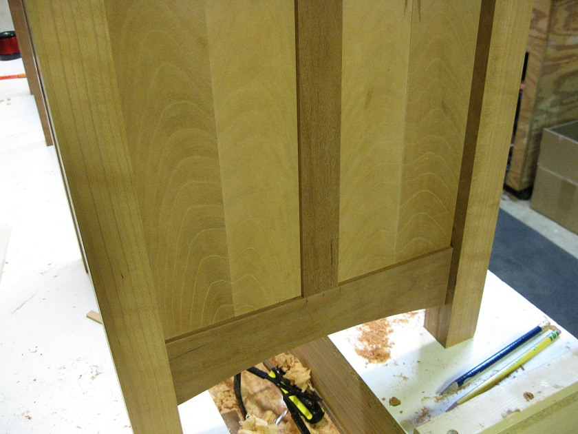 A close-up of the panels showing the nice grain.