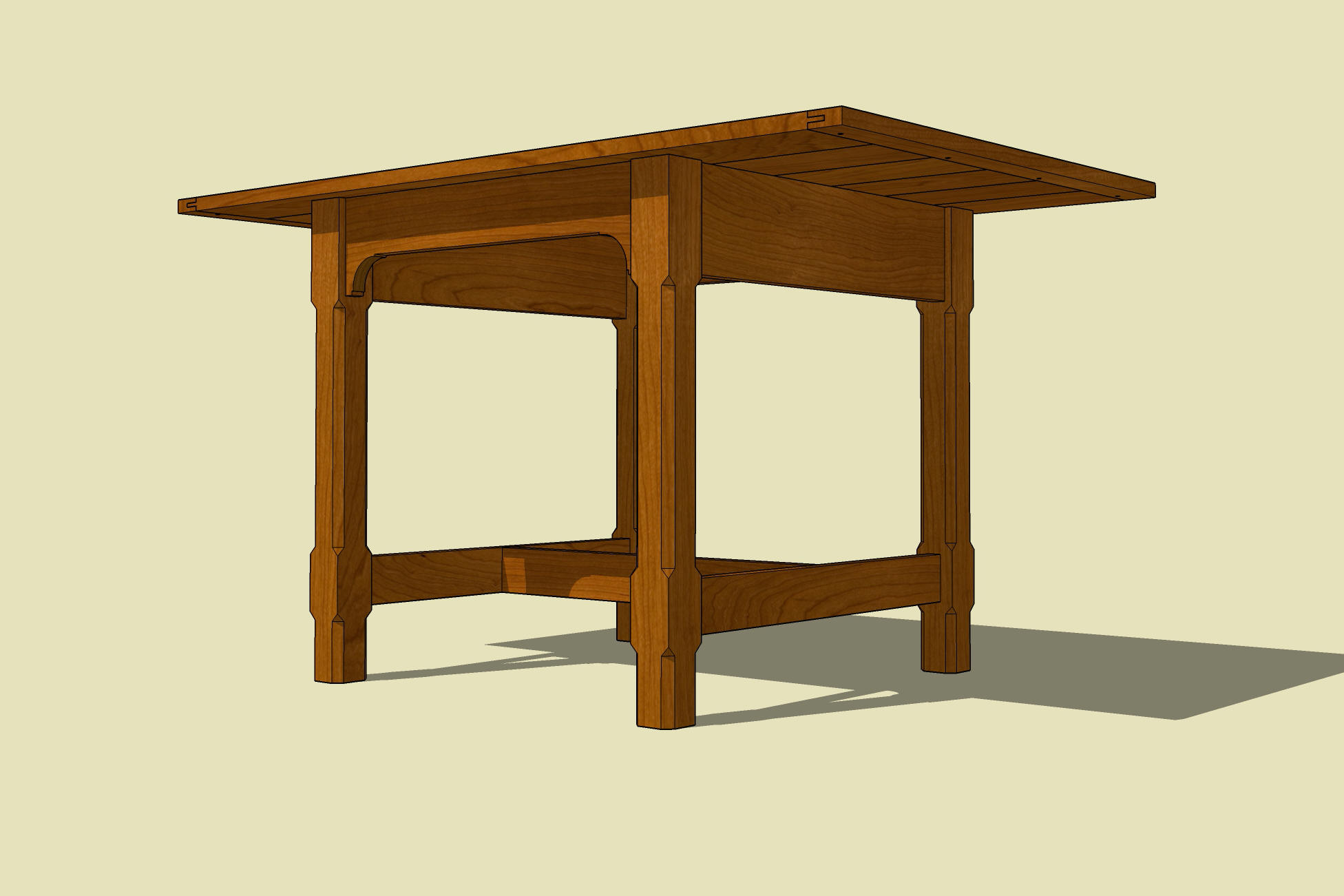 Woodworking plans in sketchup pdf download gemini wood for Table design sketchup