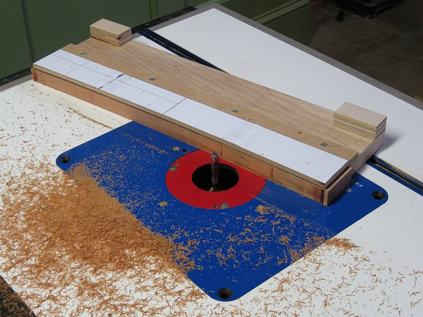 Template routing a smooth edge on a middle lower apron.