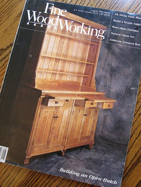 "An ""open hutch"" by woodworker Ronald Layport"