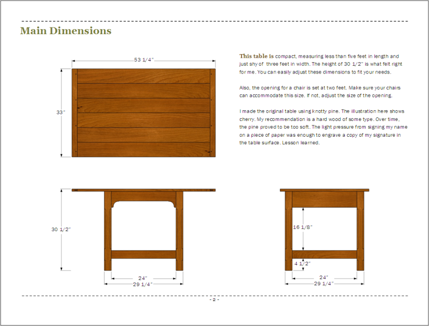 Page 2 - main dimensions.