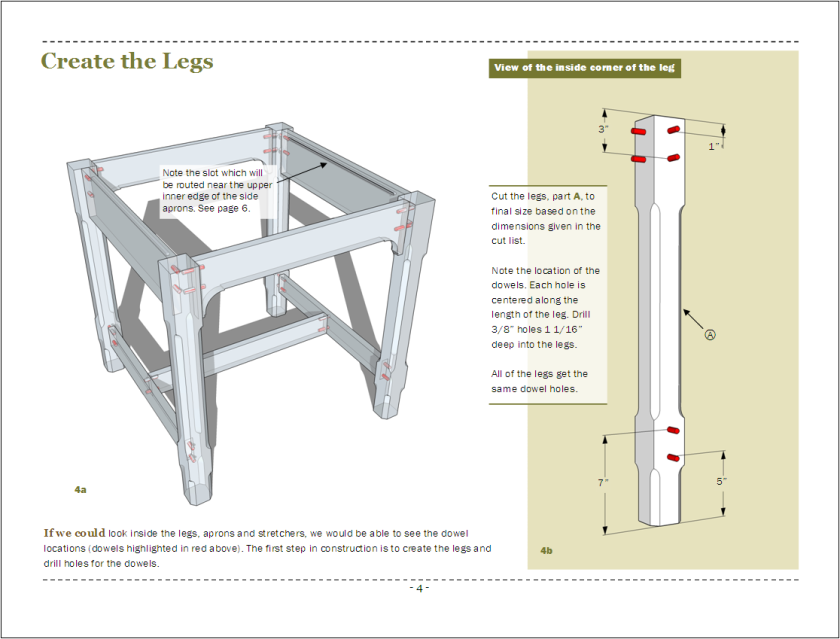 Page 4 - Creating the legs.