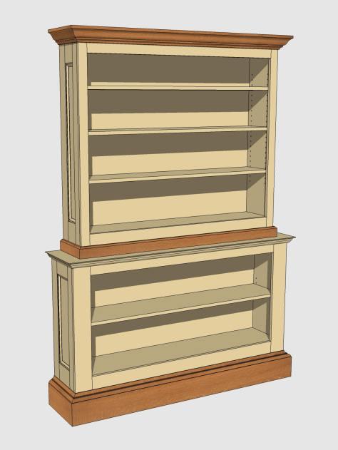 Scott Bookcase BP 110613 sand