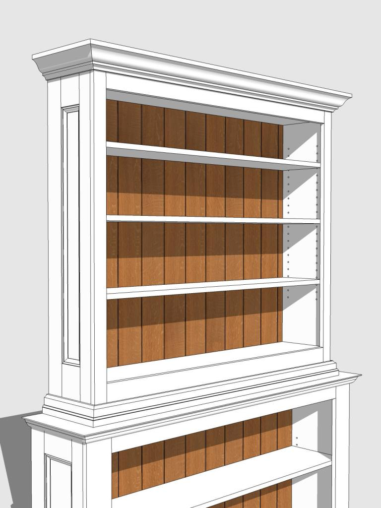 Scott Bookcase Oak Back 34