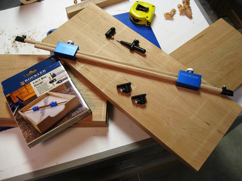 Handy in the shop: the Rockler 3-in-1 bar gauge.