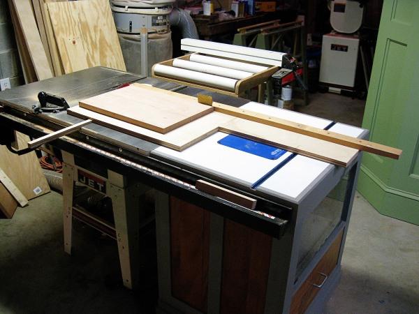 My panel cutting sled.