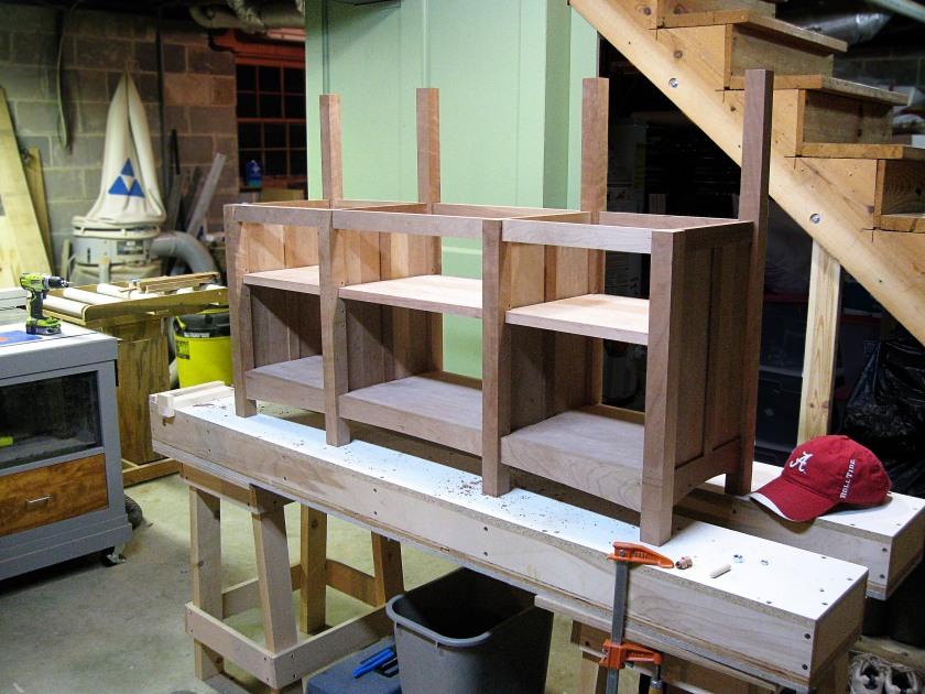 Adjustable shelves in.