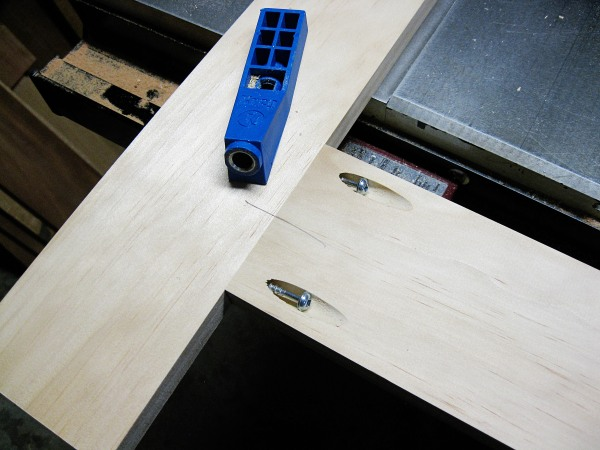 Pocket screws; the easiest joinery method.
