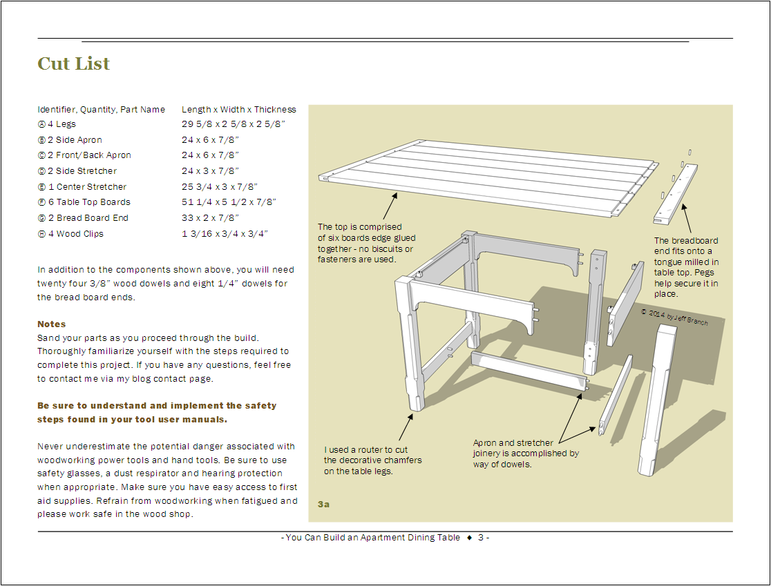 free woodworking plan: small dining table | jeff branch