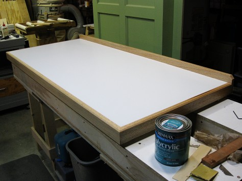 The completed table top.