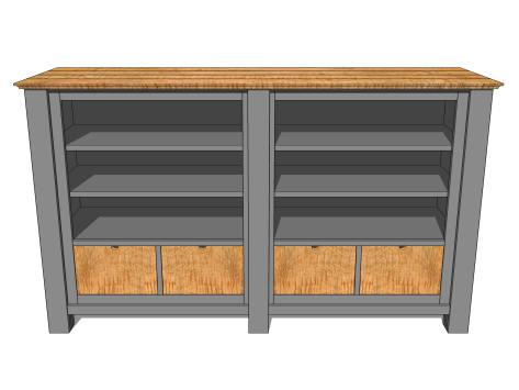 Large Media Console Gray 2