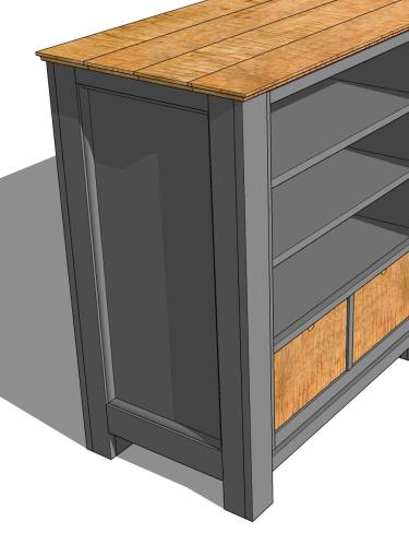 Large Media Console Gray3