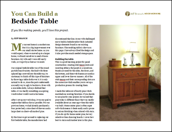 Bedside table, page 1.