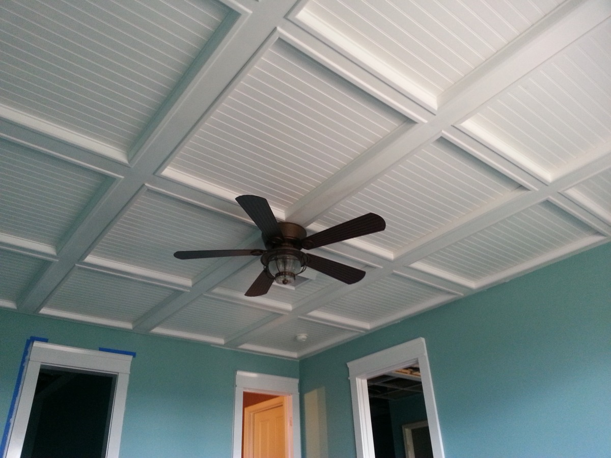 New Woodworker Conquers Enormous Coffered Ceiling Project