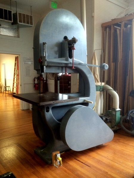 Big Mama - one of the largest bandsaw I have ever seen.