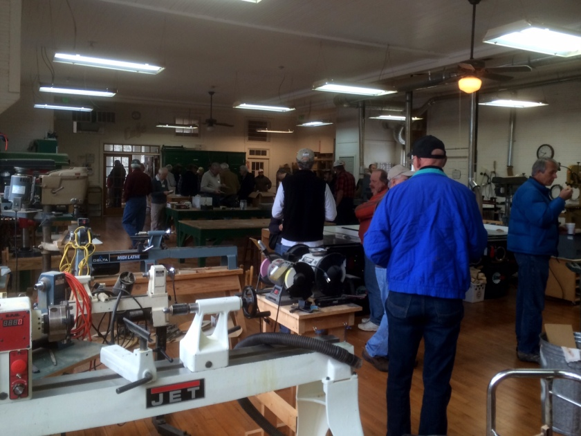 A view of the well equipped shop.