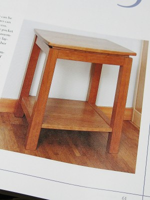 End table in cherry.