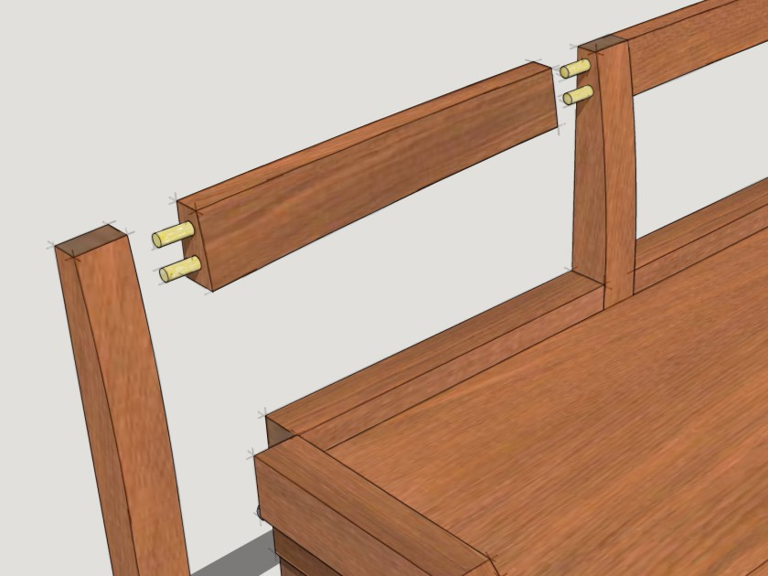 Crest rail joinery.