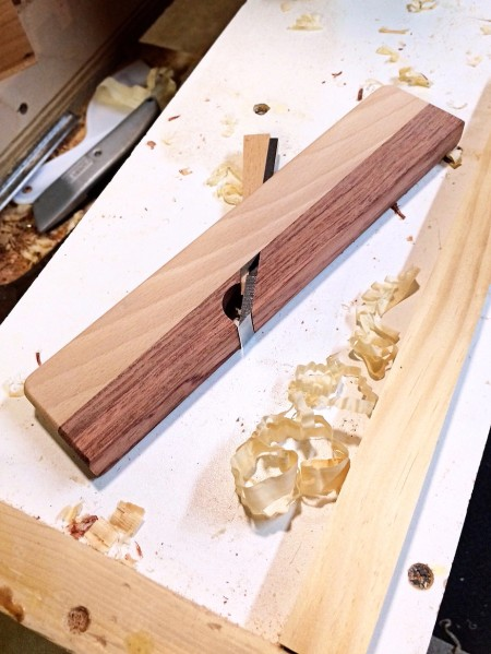 The mostly completed shoulder plane.