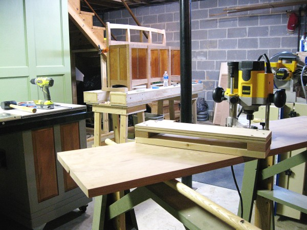 A quickly made double-sized router fence.