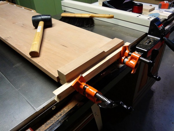 Also, a little woodworking this week: gluing the seat ends in place.