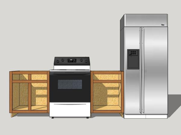 With appliances borrowed from the 3D Warehouse.