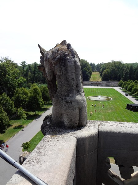 Note the care taken to shape this gargoyle's rear end.