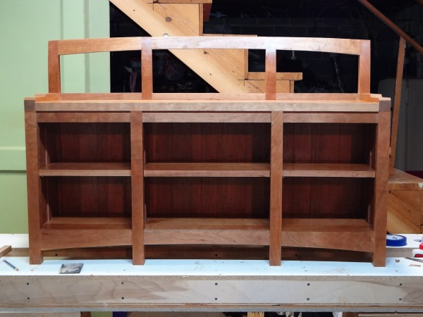 The completed bookcase.