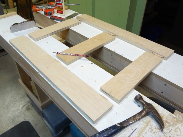 First web frame prior to glue-up.
