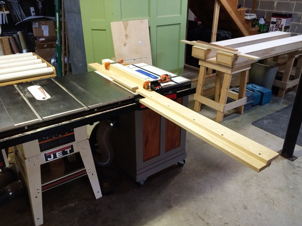 Adding this auxiliary fence to my table saw.