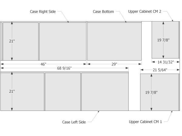 Plywood cutting diagram #1.