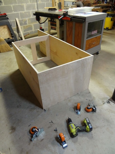 Breaking down the cabinet so I can create a rabbet on each side.